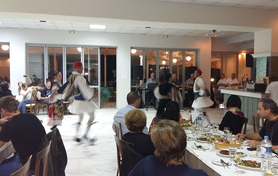 Greek nights with traditional cuisine and folklore dance music