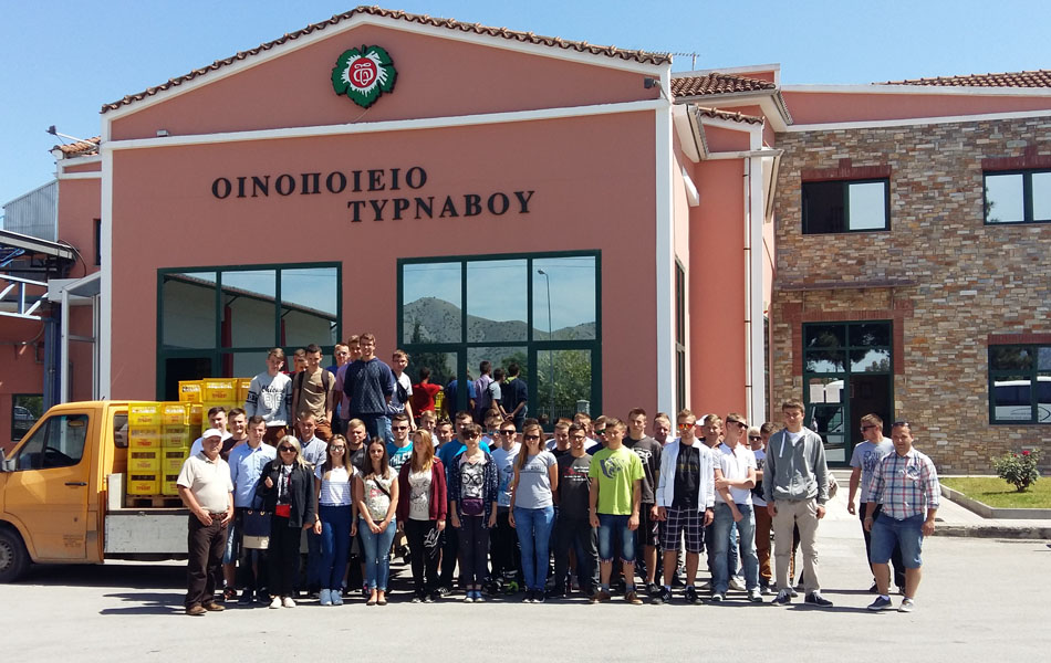 Olympus Education Επίσκεψη στο Οινοποιείο Τυρνάβου